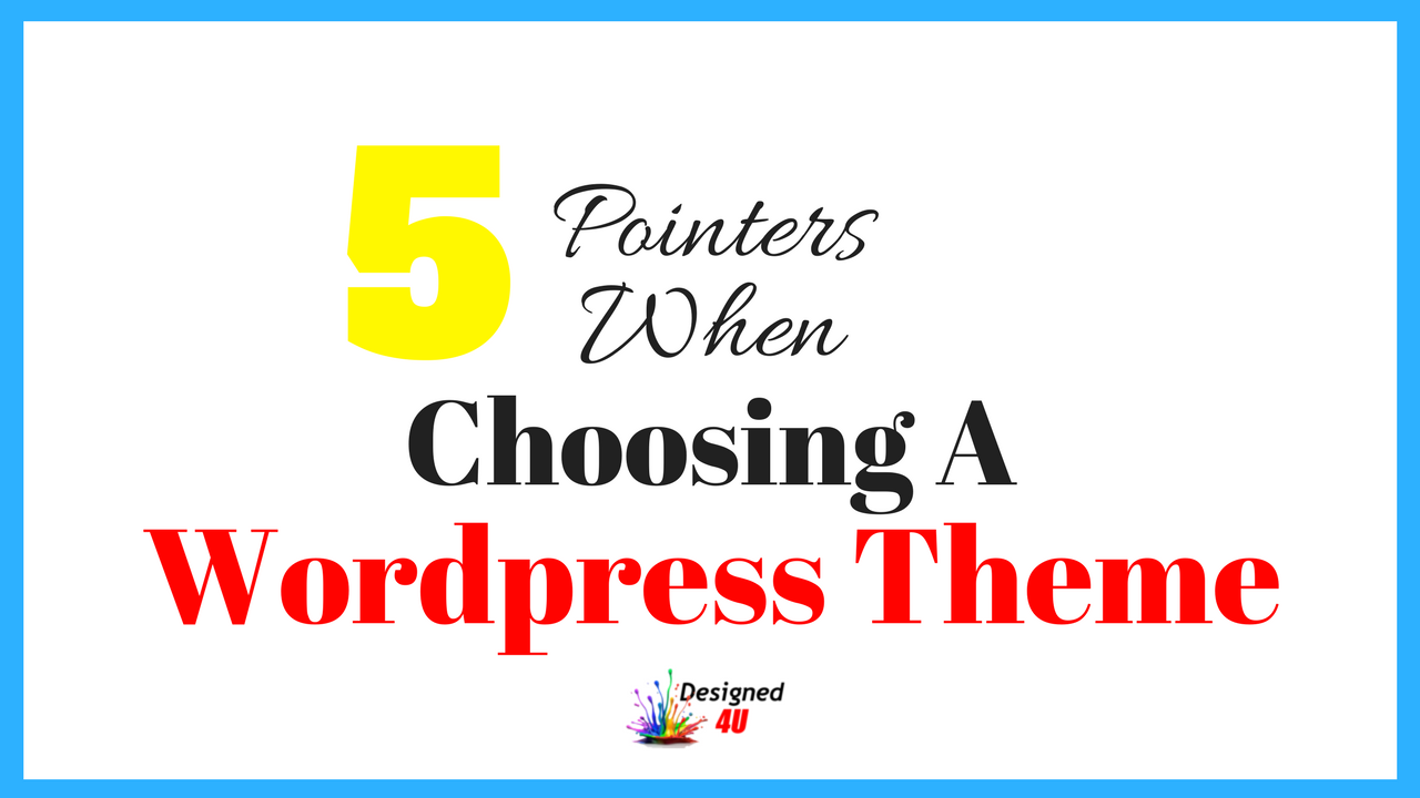 choosing wordpress themes