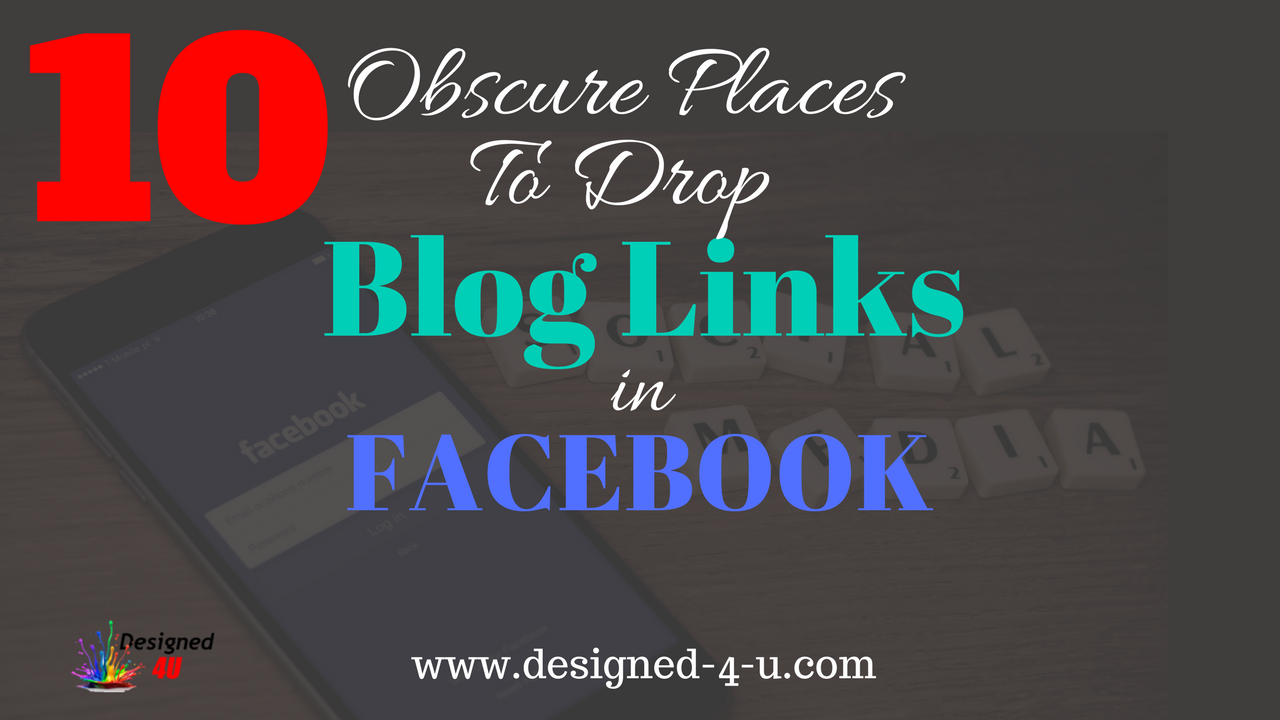 blog links in Facebook