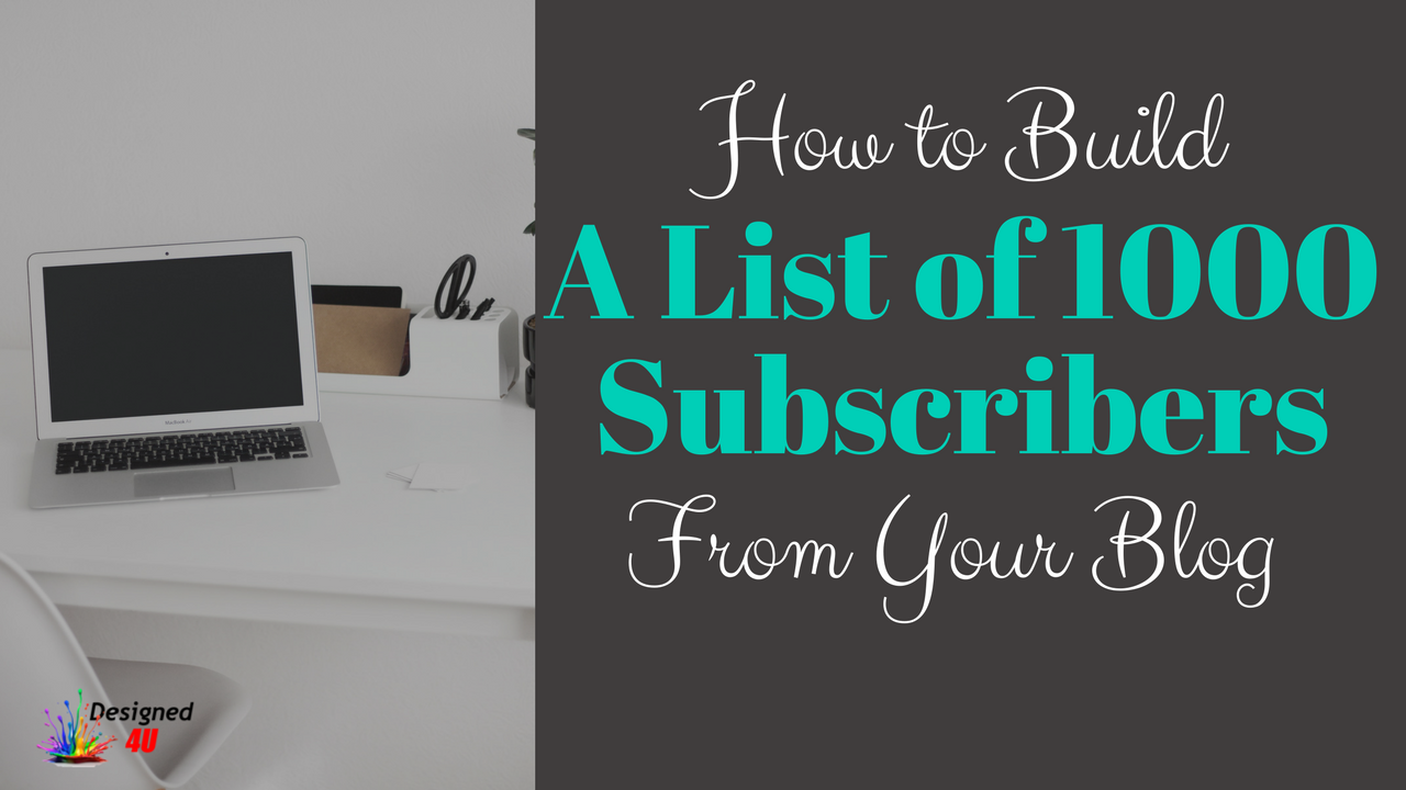 build a list through blogging