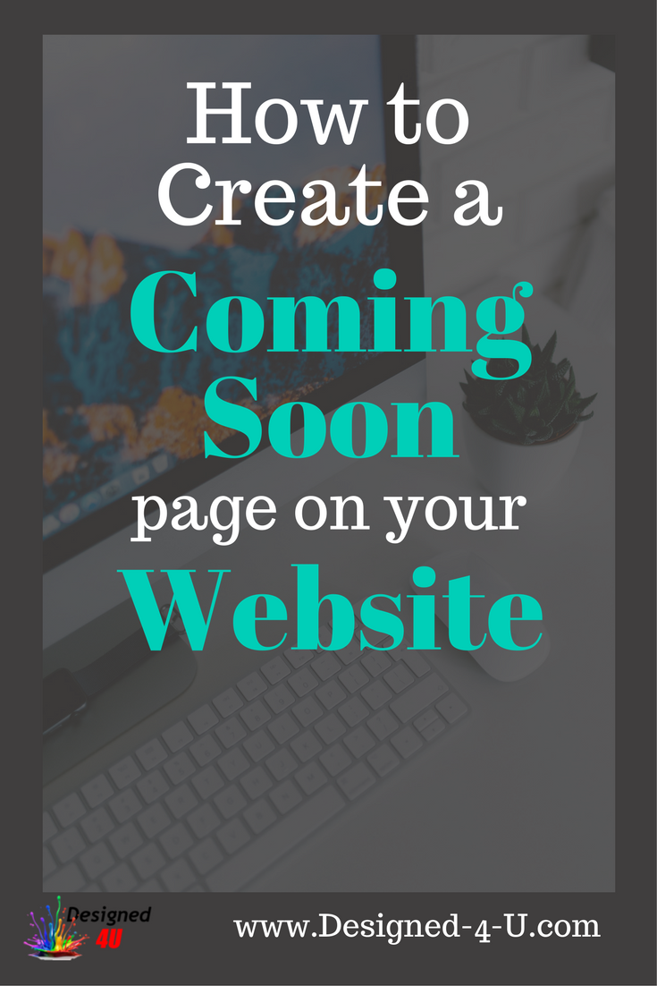 create a coming soon page