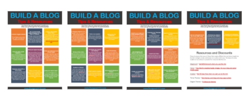 build a blog resources